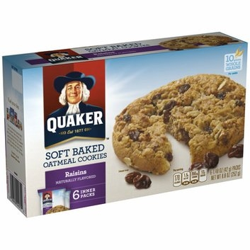 Quaker Soft Baked Raisins Oatmeal Cookies