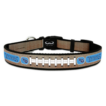 Game Wear Inc NFL Tennessee Titans Reflective Dog Collar LG
