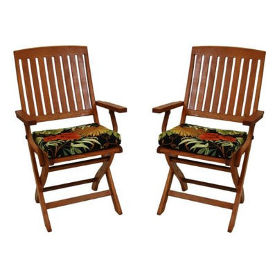 Blazing Needles Outdoor Folding Chair Cushion - Set of 2