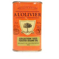A L'Olivier Toasted Sesame Oil Tin 8.3oz