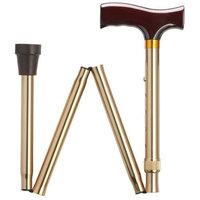 Harvy Unisex Folding Adjustable Fritz Cane Bronze Aluminum -Affordable Gift! Item #DHAR-9052303