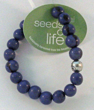 Seeds of Life Bracelet w Antique Silver World Bead Blue Whitney Howard Designs
