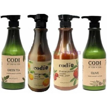 Codi Hand and Body Lotion SUPER SET 4 pcs (Olive, Green Tea, Tangerine, and Pomagranate) Plus 2 Free of Apple EYE Pencil Color: sky teal