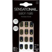 SensatioNail Salon Nails, Gold Elements, 28 count