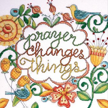 Design Works Crafts, Inc. Heartfelt Prayer Counted Cross Stitch Kit-10