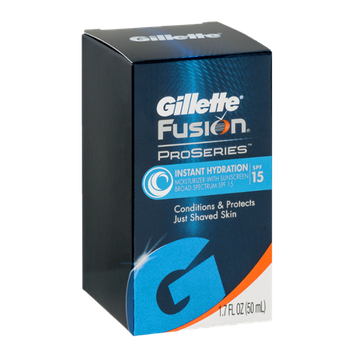 Gillette Fusion Proseries Instant Hydration Moisturizer With Sunscreen