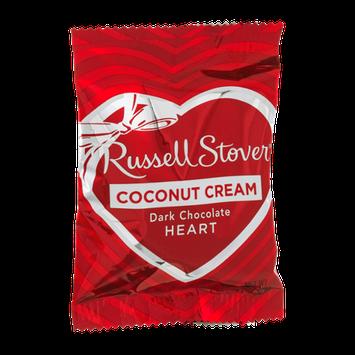 Russell Stover Coconut Cream Dark Chocolate Heart