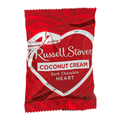 Russell Stover Coconut Cream Dark Chocolate Heart