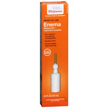 Walgreens Ready-to-Use Enema Mineral Oil/Lubricant Laxative, 4.5 oz
