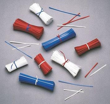 Value Brand M6PAR Twist Ties, Red, 6 In, Paper, Pk 10000