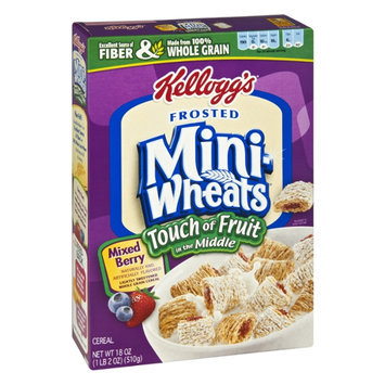 Kellogg's Frosted Mini-Wheats Touch of Fruit in the Middle Mixed Berry Cereal
