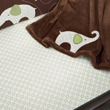 Cribs Carters Green Elephant Fitted Sheet Green/Brown Infant