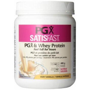 Webber Naturals PGX® SatisFastTM (PGX & Whey Protein), Very Vanilla, 408g Powder