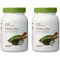 GNC Superfoods Spirulina 2 Packs each of 100 Capsules
