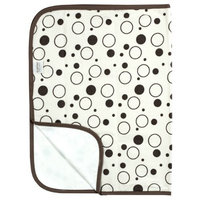 Kushies Deluxe Flannel Change Pad, Cream Crazy Bubbles