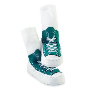Sock-ons Sock Ons Mocc Ons Turquoise Sneaker Slipper Socks