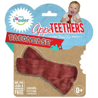 Little Toader AppeTEETHERS Teething Toys - Baconease
