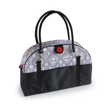 2 Red Hens Coop Carry-All Diaper Bag - Grey Damask