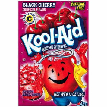 Kool-Aid Black Cherry Unsweetened Soft Drink Mix, 0.13 Oz (Bonus Pack of 50 Packets)