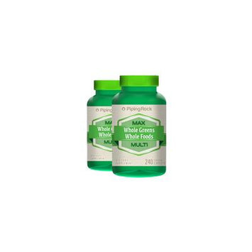 Max Whole Greens/Whole Foods Multi 2 Bottles x 240 Coated Caplets