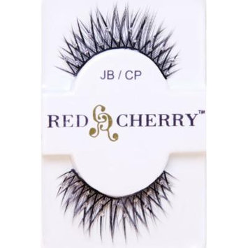 Red Cherry Fashion Faux Eyelash Extensions--Criss-Cross with Glitter Dots