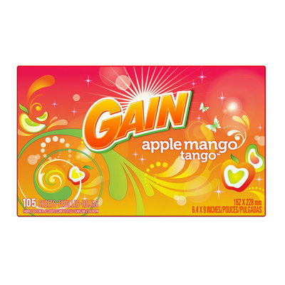 Gain With FreshLock Apple Mango Tango Dryer Sheets 105 Count