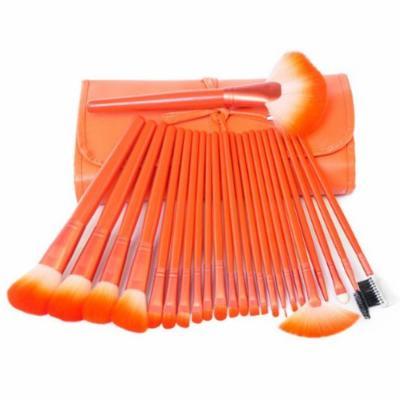 KingMas 24 Pcs Pro Makeup Brushes Cosmetic Make Up Brush Set with bag - Orange