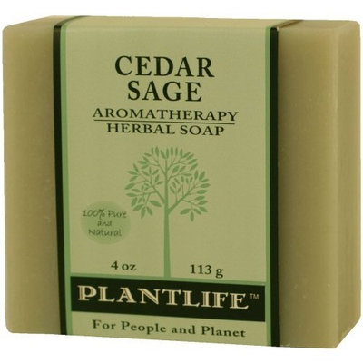 Plantlife Cedar Sage 100% Pure & Natural Aromatherapy Herbal Soap- 4 oz(113g)