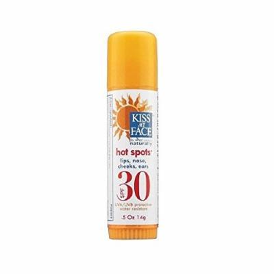 Kiss My Face Hot Spots Lips, Nose, Cheeks & Ears Natural Sunscreen, SPF 30 0.5 oz (14 g)