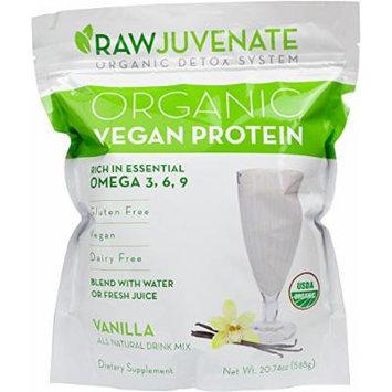 Raw Green Organics - RawJuvenate - Organic Vegan Protein - Vanilla - Rich in Essential Omega 3, 6, 9 - 20.74 oz. (588 Grams)