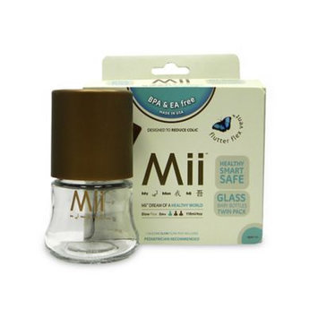 Mii Baby Glass Nurser Bottle (Set of 2) Size: 4 oz.