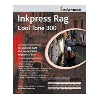 Inkpress Rag, Cool Tone Double Sided, Bright White Matte Inkjet Paper, 24 mil, 300gsm, 8.5x11 inch