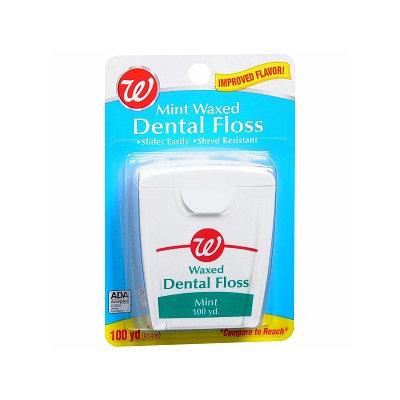 Walgreens Mint Waxed Dental Floss
