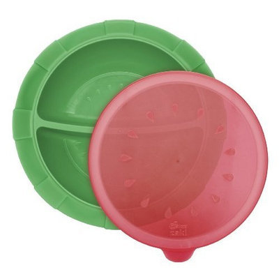 Dr Sears Dr. Sears Divided Bowl, Green/Red, 6 Months (Discontinued by Manufacturer)