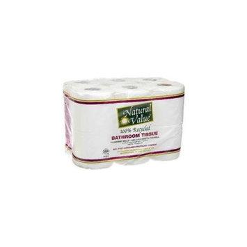Natural Value BG16228 Natural Value 400Ct-Roll Bth Tissue - 4x12Pack
