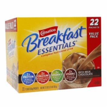 Carnation Breakfast Essentials Complete Nutritional Drink, Packets, Rich Milk Chocolate, 22 ea