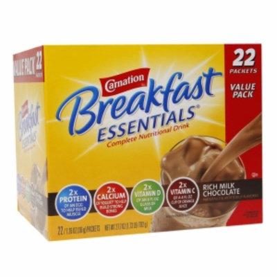 Carnation Breakfast Essentials Complete Nutritional Drink, Packets, Rich Milk Chocolate