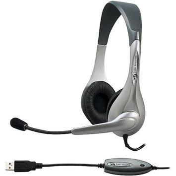 Cyber Acoustics AC-851B Silver OEM USB Headset/Mic