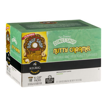 The Original Donut Shop Coffee Nutty Caramel Medium Roast K-Cup Packs - 12 CT