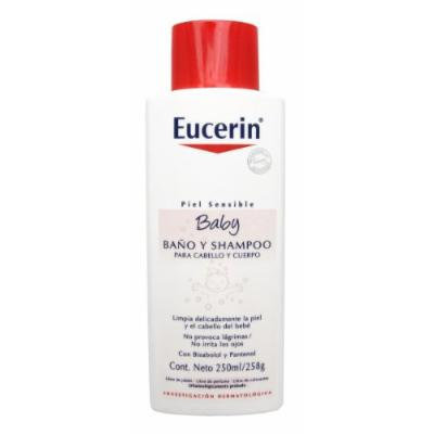 Eucerin Baby Bodywash Bath and Shampoo. Sensitive Skin. 250 Ml (8.4 Fl Oz)