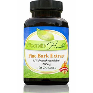Pine Bark Extract , 200mg , 100 Capsules , 95% OPC Flavanoids , Powerful Antioxidant and Free Radical Scavenger