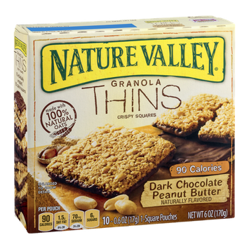 Nature Valley™ Granola Thins Crispy Squares Dark Chocolate Peanut Butter