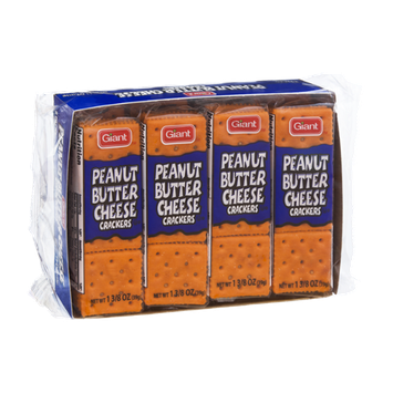 Giant Peanut Butter Cheese Crackers - 8 PK