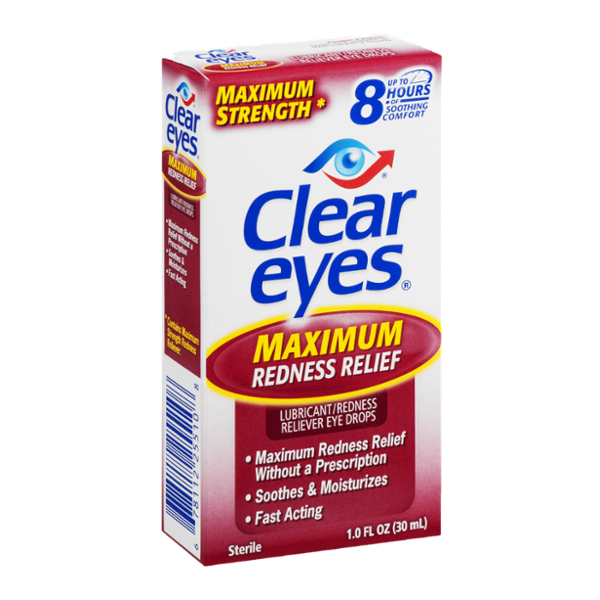 Clear Eyes Lubricant/Redness Reliever Eye Drops Maximum ...