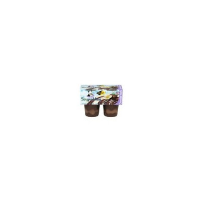Zensoy Zen Soy Organic Chocolate Vanilla Pudding with Soy Milk, 3.8 Ounce - 4 per pack -- 12 packs per case.