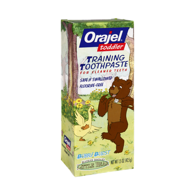 Orajel Toddler Little Bear Bubble Burst Training Toothpaste