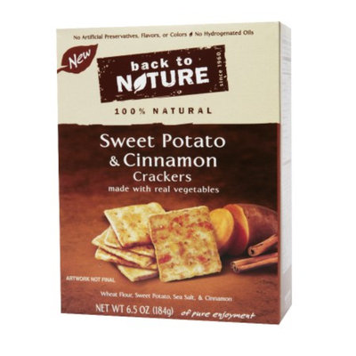 Back to Nature Sweet Potato Cinnamon Crackers, 6.5 oz