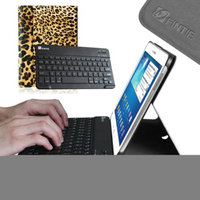 Fintie Wireless Bluetooth Keyboard Case Cover for Samsung Galaxy Tab 3 10.1 Inch Tablet, Leopard Brown