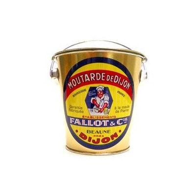 Fallot & Cie Fallot Dijon Mustard Tin Pail w/ Jar 15.8 oz