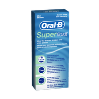 Oral-B Super Floss Pre-Cut Strands Mint 50 Count